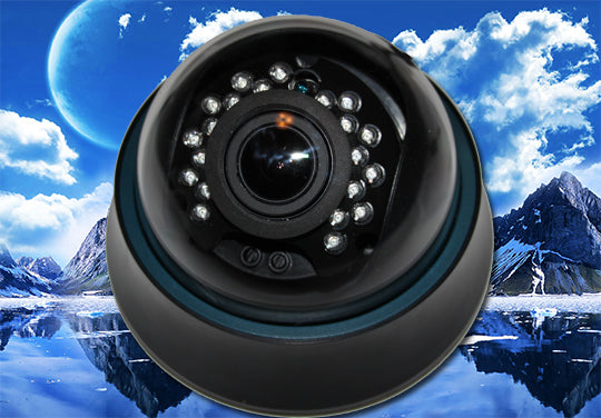 1080P HD-TVI BLACK INDOOR INFRARED 2.8~12MM VARIFOCAL DOME SECURITY CAMERA