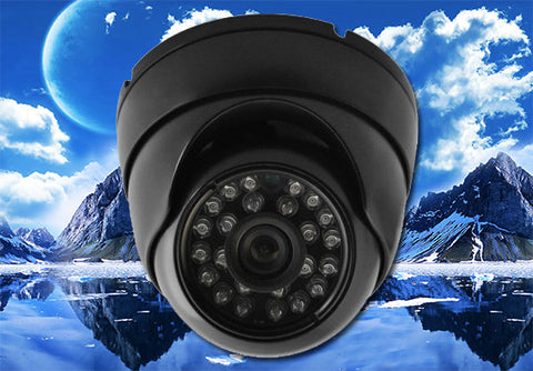 1080P HD-TVI Infrared Black Eyeball Security Outdoor/Indoor Dome Camera, 3.6mm