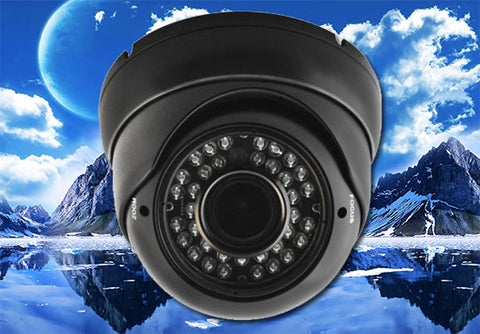 1080P 2.1 Megapixel HD-TVI Black 36 LED Motorized 2.8~12mm Lens Infrared Dome Camera