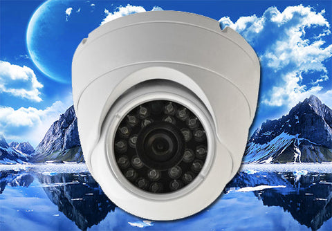 1080P AHD/960H Infrared White Eyeball Security Outdoor/Indoor Dome Camera, 3.6mm