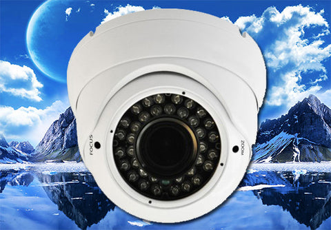 1080P 2.1 Megapixel HD-TVI White 36 LED Motorized 2.8~12mm Lens Infrared Dome Camera