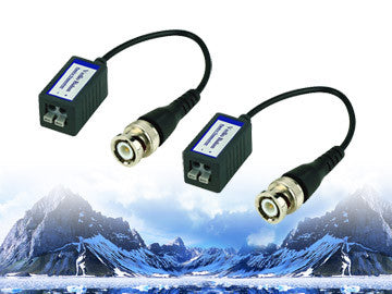 Passive CCTV Balun With Pigtail 1000ft limit 1 Pair