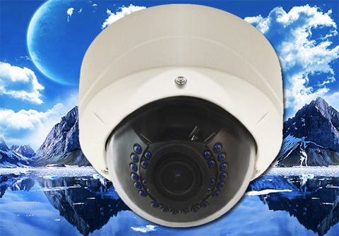 2.0 Megapixel 1080P IP Vandal-Proof Infrared Dome Security Camera, POE, 2.8mm~12mm