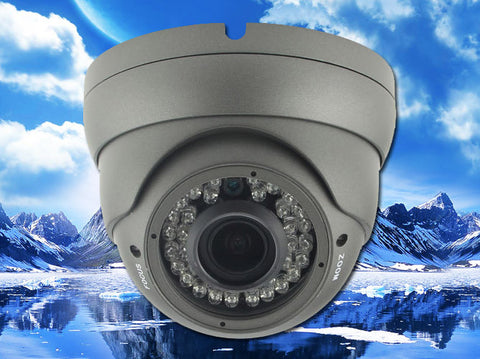 4 Megapixel HD-TVI Grey 36 LED 2.8~12mm Lens Infrared Dome Camera