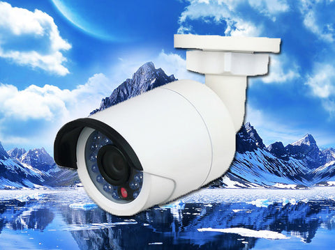 White 3MP IP 4mm Bullet Infrared IR Security POE Camera