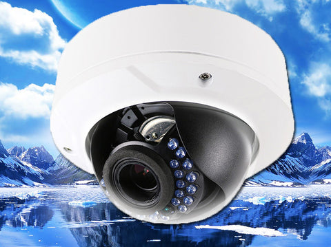 4.1 Megapixel IP Vandal-Proof Infrared Dome Security Camera, POE, 2.8mm~12mm