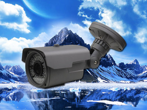 4 Megapixel HD-TVI Grey 48 LED 2.8~12mm Lens Infrared Bullet Camera
