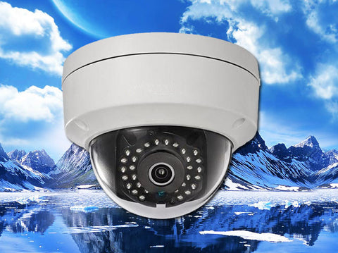 White Vandal 3MP IP 4mm IR Dome Security Camera