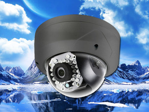 4.1MP Black Vandal-Proof 2.8mm Infrared Dome IP Camera, POE