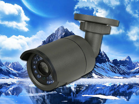 Black 4MP IP 4mm Bullet Infrared IR Security POE Camera