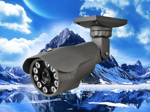 720P HD-CVI Black Infrared Bullet Security Outdoor Camera, 2.8mm~12mm