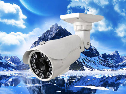 720P HD-CVI White Infrared Bullet Security Outdoor Camera, 2.8mm~12mm