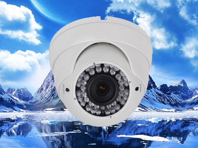 720P HD-CVI White Infrared Eyeball Security Outdoor/Indoor Dome Camera, 2.8mm~12mm
