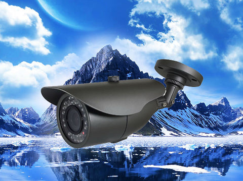 720P AHD Fixed Black Infrared Security Bullet Camera, HD Analog, 3.6mm Lens