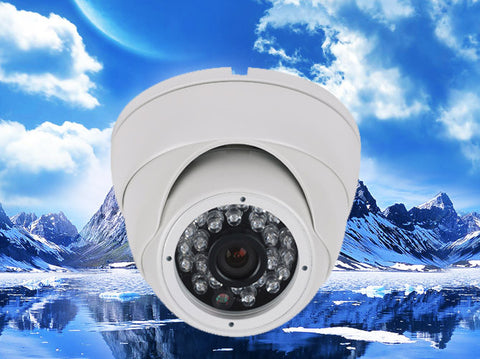 720P AHD Fixed Infrared Security Dome Camera, HD Analog, 3.6mm Lens