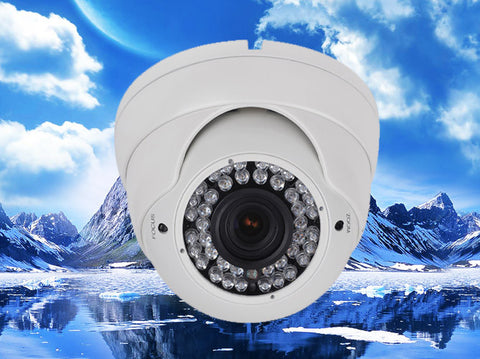 720P AHD Varifocal Infrared Security Dome Camera, HD Analog, 2.8mm~12mm Lens