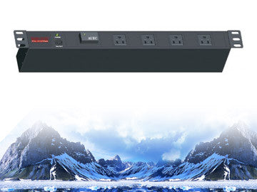 "PDU-R1512S, Maruson Technology, 19"" rackmount,1U, 15Amp, 12 ft power cord, 12 outlets and 1800J surge"