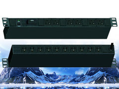 "PDU-R2016S, Maruson Technology, 19"" rackmount,1U, 20Amp, 12 ft power cord, 16 outlets and 1800J surge"
