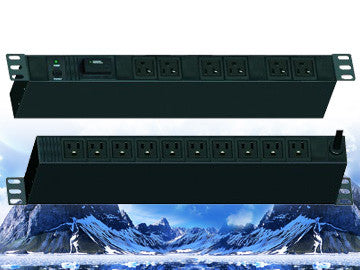 "PDU-R2014S, Maruson Technology, 19"" rackmount,1U, 20Amp, 12 ft power cord, 14 outlets and 1800J surge"