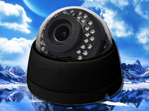 SD-2MI2812-AHD-B, CCTV STAR, Hybrid AHD/960H Infrared Black Indoor Dome Camera, 2.8mm~12mm