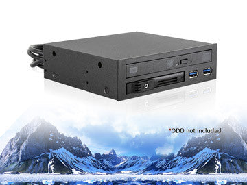 "T-5K25TU-SA, iStar USA, 5.25"" to Slim ODD and 2.5"" SATA 6Gb/s Trayless Hot-Swap Cage with USB 3.0"