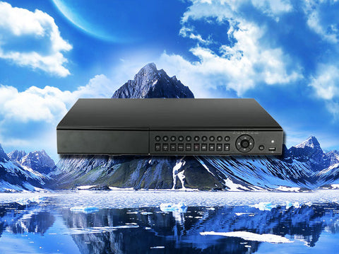 Hybrid 16 channel HD-TVI/960H/D1/IP 1080P/720p HD Security DVR