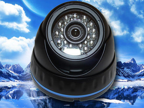 SC-960-FDIR-BLACK 700 TVL 960H 1/3 CCD 24 LED IR BLACK DOME CAMERA 3.6MM LENS SONY EFFIO-E, Saber CCTV