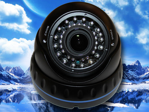 700TVL 1/3 SONY EFFIO-E CCD 36 LED IR BLACK DOME CAMERA 2.8~12MM VARIFOCAL LENS