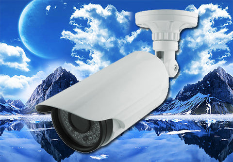 1080P 2.1 Megapixel HD-TVI White Infrared Bullet Camera 2.8~12mm Lens