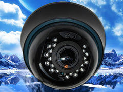 1080P HD-TVI Infrared Black Indoor Dome Camera, 2.8mm~12mm