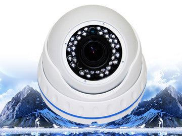 SC-700-PVDIR-WHITE 700 TV IR DOME SECURITY CAMERA POWERED ZOOM 36 LED SONY EFFIO-E, Saber CCTV