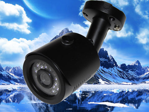 SC-700-FBIR-GREY 700TVL IR BLACK BULLET CAMERA CCD 24 LED 3.6MM LENS SONY EFFIO-E, Saber CCTV