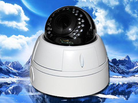 SVD-2MI2812-AHD, CCTV STAR, Hybrid AHD/960H Infrared White Vandal-Proof Dome Camera, 2.8mm~12mm