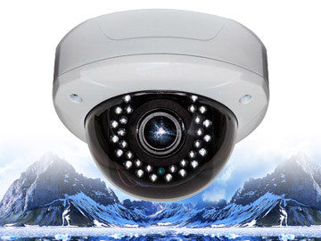 720P HD-CVI Infrared Security Outdoor Vandal-Resistant Varifocal 2.8mm~12mm Dome Camera