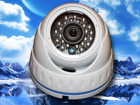 SC-960-FDIR-WHITE IR 960H Dome Camera, SONY EFFIO-E CCD 700 TVL White Color, Saber CCTV
