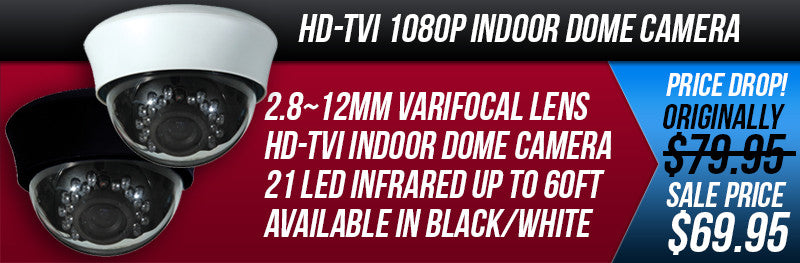 HD-TVI 1080P Varifocal Indoor Dome Camera