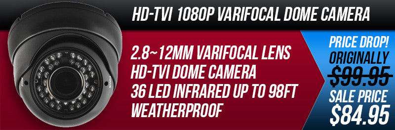 HD-TVI 1080P Varifocal Eyeball Camera