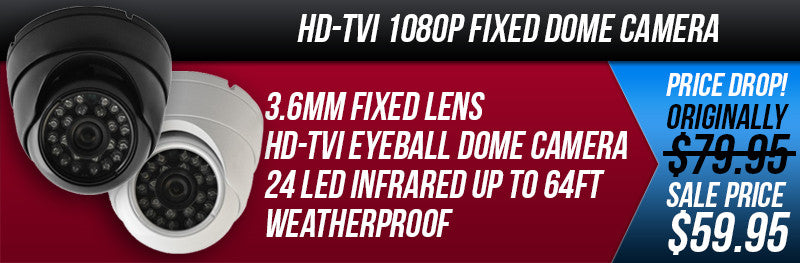 1080P HD-TVI Camera Dome 3.6mm