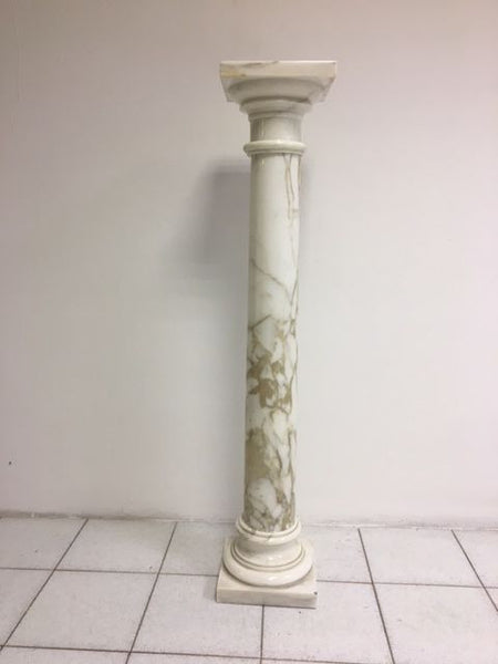 Colonna impero in marmo di carrara