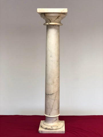Colonna impero in marmo carrara