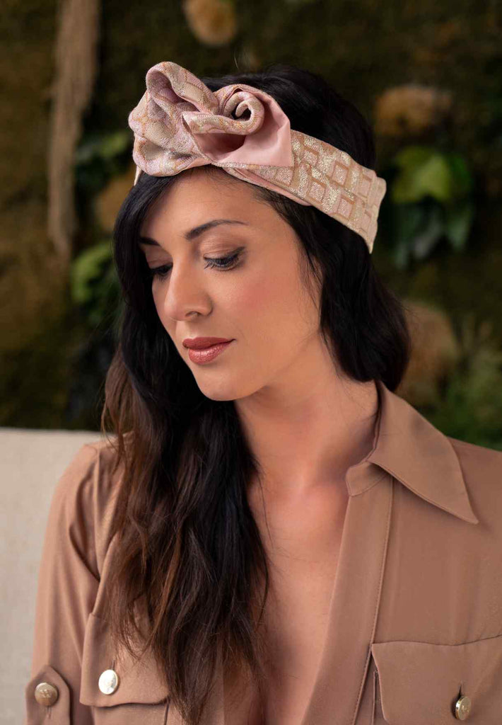 Sophie Headband Limited Edition - Jacquard Pink