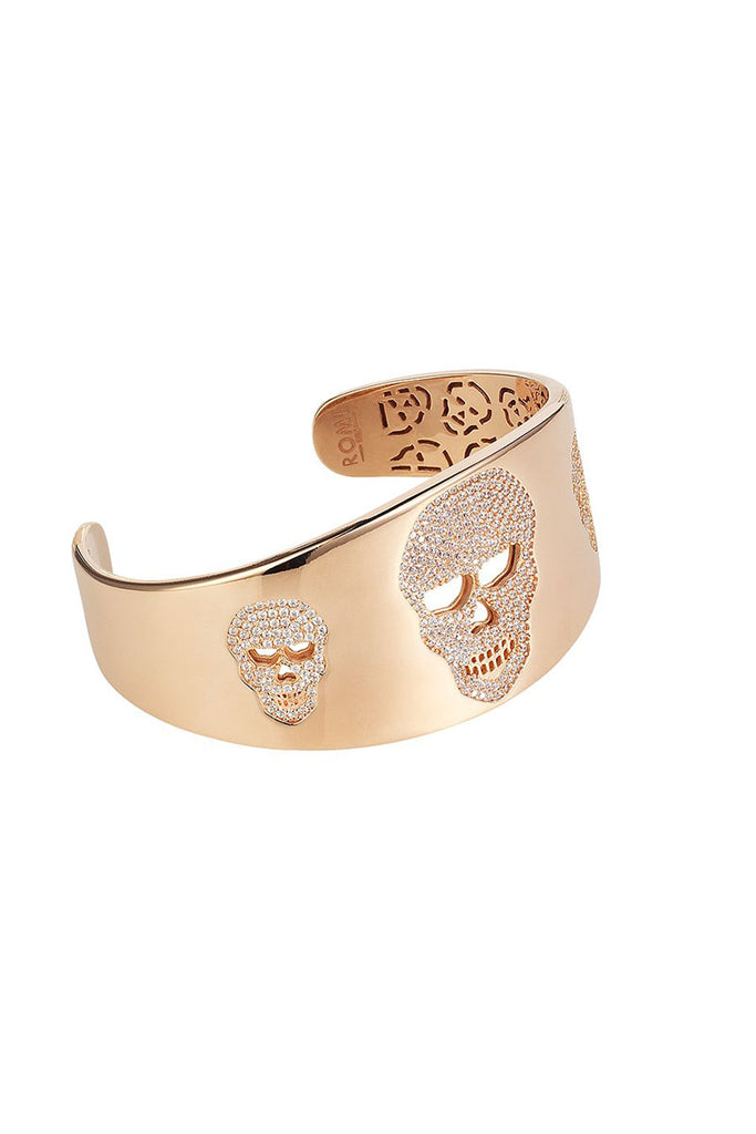 Skull Bangle Rose Gold