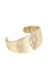 Skull Bangle Yellow Gold