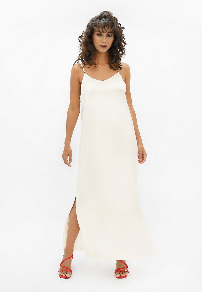 Calabar CBQ - Slip Dress - Pearl