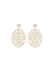 Feather Earrings Yellow Gold