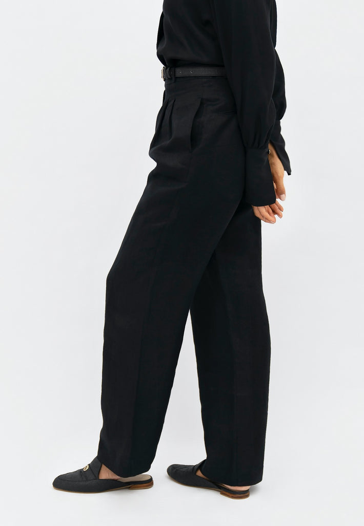 French Riviera NCE - Wide Leg Pants - Licorice