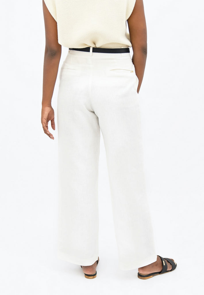 French Riviera NCE - Wide Leg Pants - Porcelain