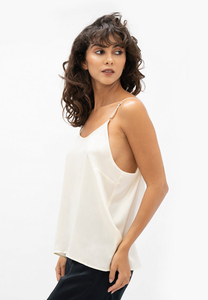 Kingston LHR - Cami Top - Pearl