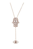 Hamsa and Eye Pendant Yellow Gold