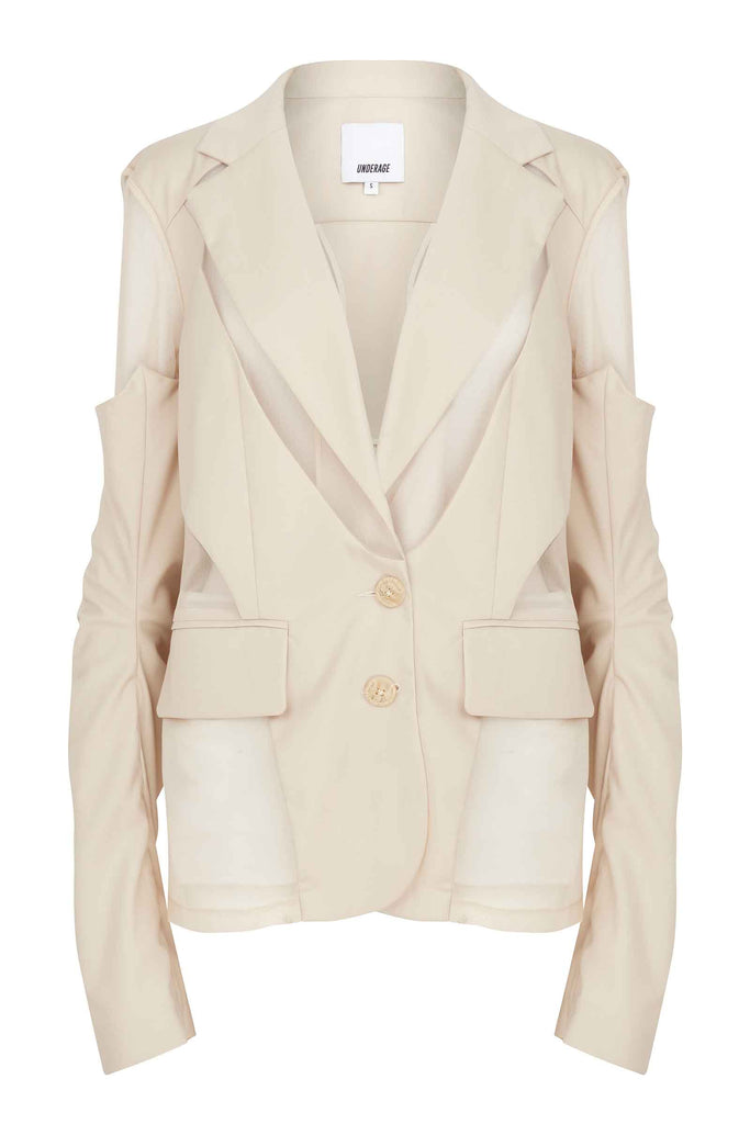 Deconstructed Blazer with Detachable Sleeves